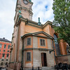 Storkyrkan Church in  oldest church in Gamla stan, the old town in central Stockholm, Sweden. Sept. 30, 2019