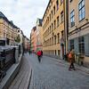 Södra/Norra Benickebrinken are two sloping streets in Gamla Stan, Sweden. Sept. 30, 2019