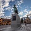 Karl XIV Johans statue at the Stockholm Palace, Gamla Stan, Stockholm. Sept. 30, 2019