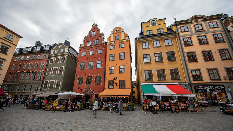 Stortorget is the name of the scenic large square in Gamla stan, the old town of Stockholm, Sweden