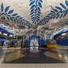 Stockholm Blueline Subway station of T-Centralen, the main hub. Sept. 30, 2019