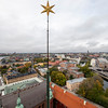 View from the top of the Tower Of Stockholm City Hall, Stockholm, Sweden. Sept. 30, 2019