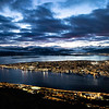 Tromso, Norway after sunset. Sept. 26m 2019
