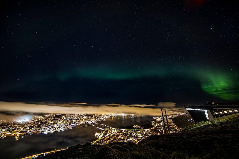 Northern Lights over Tromso, Norway. Sept. 26, 2019