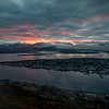 Sunset over Tromso (Fjellheisen). Sept. 26, 2019