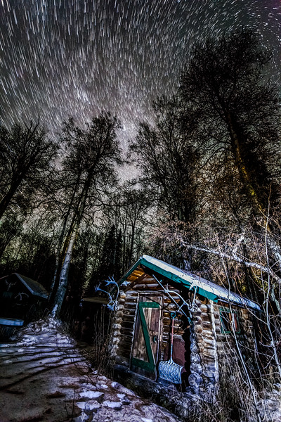 Cabin  MIlky Way Star Trails