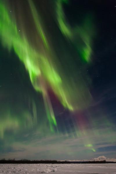 Colorful Auroras above Talkeetna