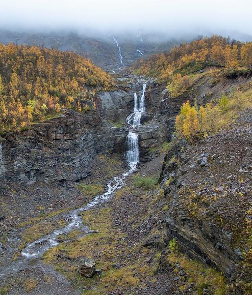 Herraneselva river empties into Langfjorden. Sept. 26, 2019