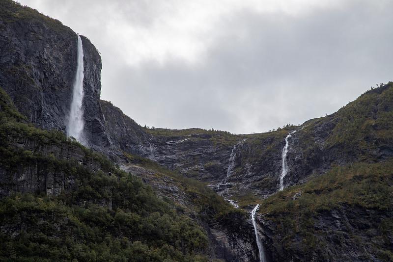 Kjelfossen Waterfall Gudvangen, Norway. Sept. 14, 2019