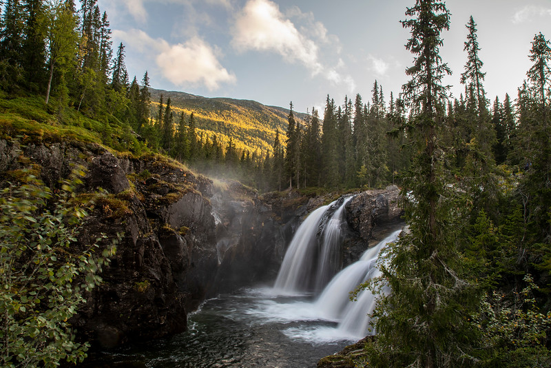 Rjukandefossen waterfall, Hemsedal, Norway. Sept. 13, 2019