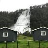 Tvindefossen Waterfall near Voss, Norway. Sept. 14, 2019
