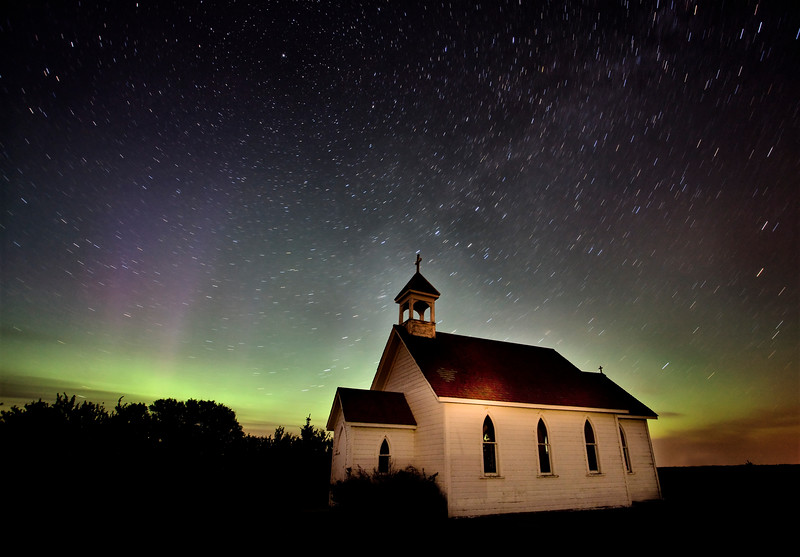 Northern Lights Canada Church country religion