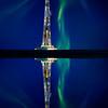 Drilling Rig and Lake Reflection