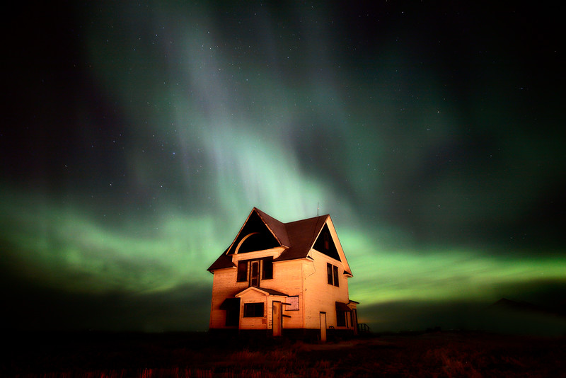 Northern Lights over Southern Saskatchewan