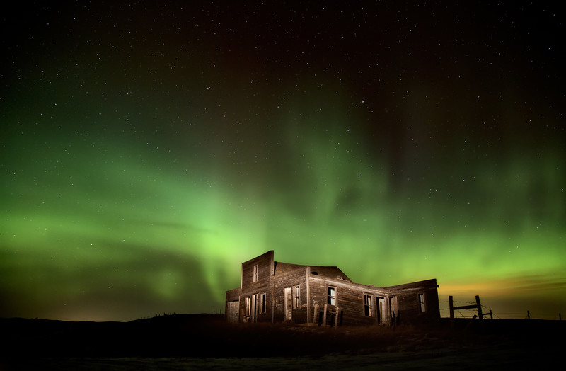 Northern Lights Canada Abandoned Building
