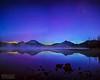 """Aurora Borealis Sunrise Reflections,"" Sparks Lake, Deschutes National Forest, Oregon"