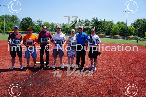 Aurora Boys Baseball Hall of Fame induction at Turners Field in Aurora, Ill 6-25-16