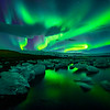 Nature's Light Show- Jokulsarlon, Iceland