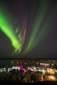 Northern Lights from Bristol Monument, Yellowknife Canada