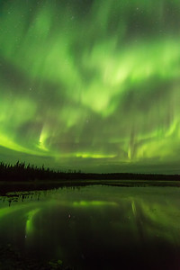 Aurora reflection heaven, Northwest territories Canada