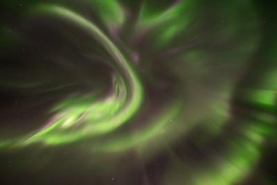 Aurora corona, Northwest Territories, Canada