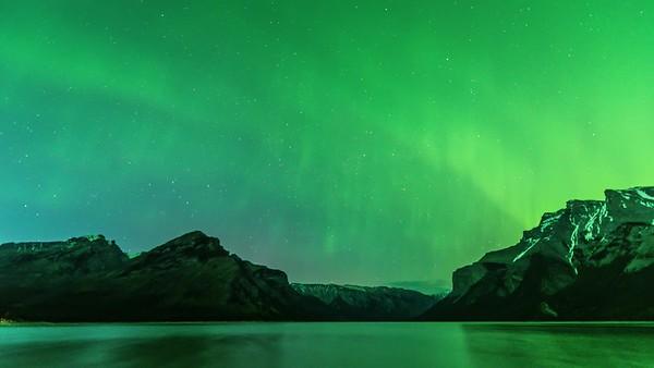 Aurora Over Lake Minnewanka