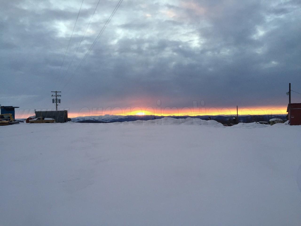 Sunrise at Skiland, Mt. Aurora at 08:02 AM