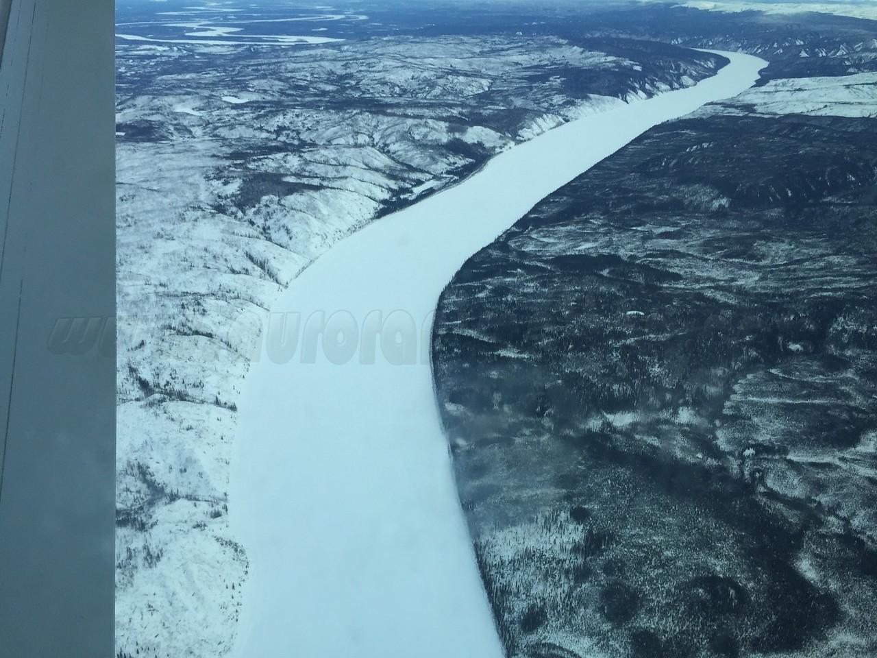 Flying above the Yukon River
