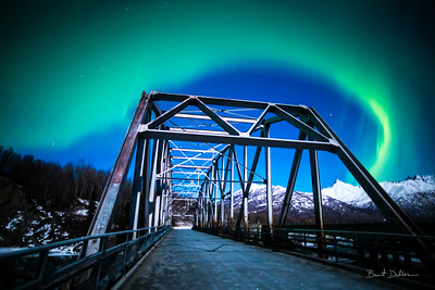 Aurora Over the Matanuska Bridge