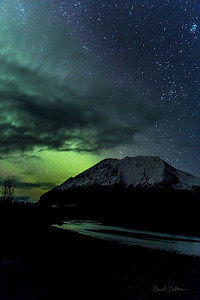 River, Mountain, Cloud and Aurora