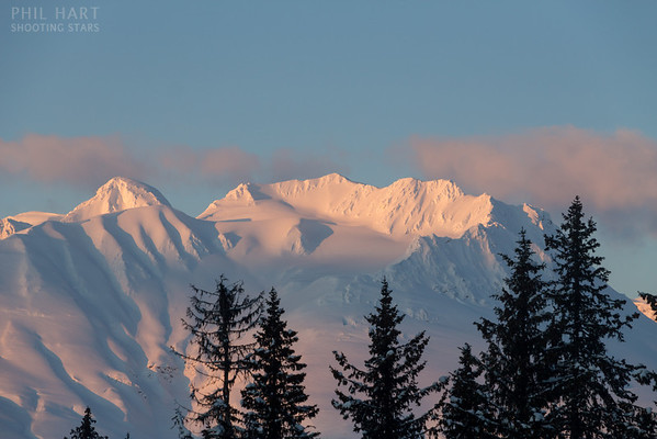 Looking south from the road to Haines, Alaska.