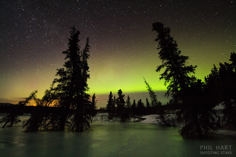 Annie Lake Aurora Reflections