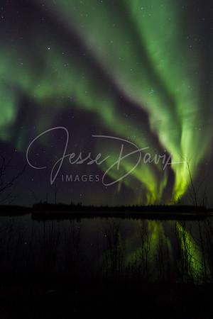 Aurora on Chena Lake, 11-12 Oct 2015