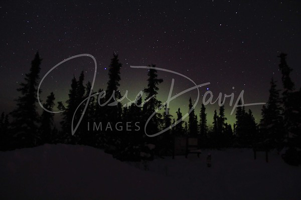 Northern Lights, Wickersham Dome Trailhead, 10 Mar 2012