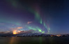 Midwinter aurora over Rebbenesøya, Norway