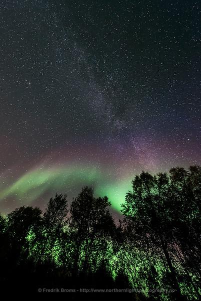 Milky Way and Auroras, Norway