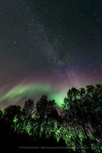 Milky Way and Auroras