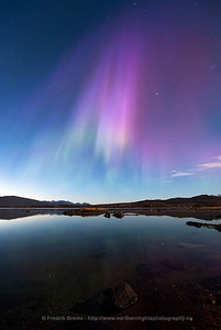 Rare Purple Aurora Reflection