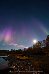 Rare Purple Autumn Auroras