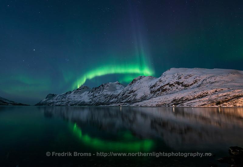 Reflection in Ersfjorden, Norway