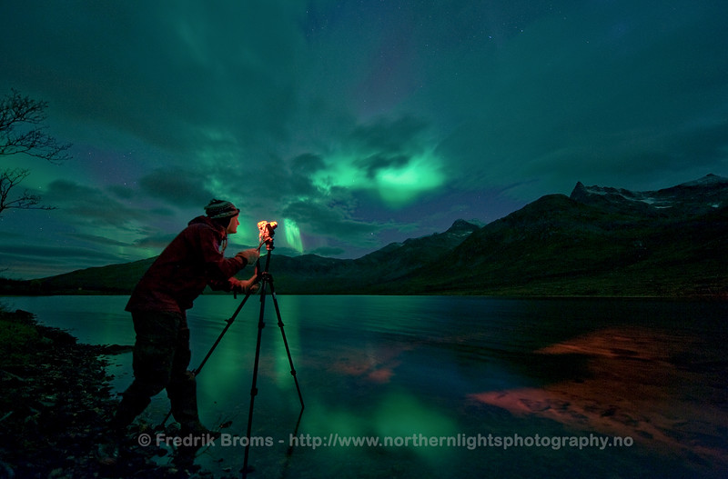 Aurora Photographer in Action, Norway