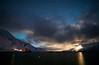 Moonrise over Rebbenesøya and Sandøya, Norway