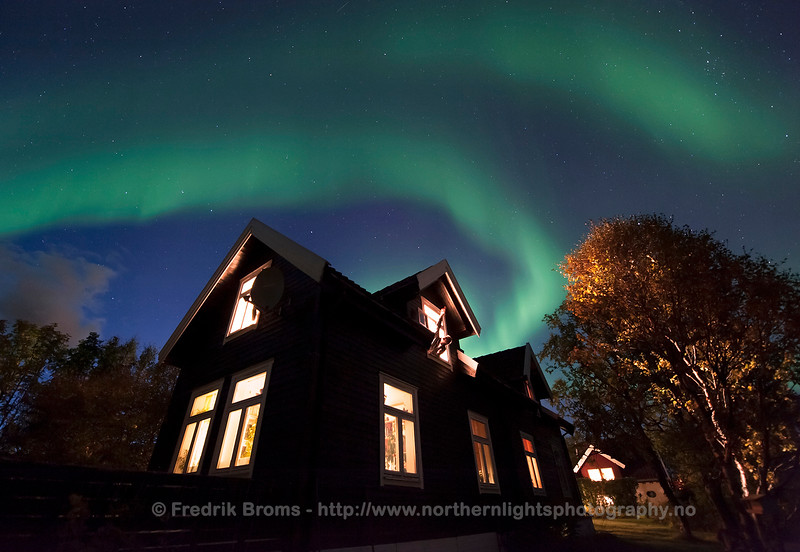 Aurora Watching from the Window, Norway