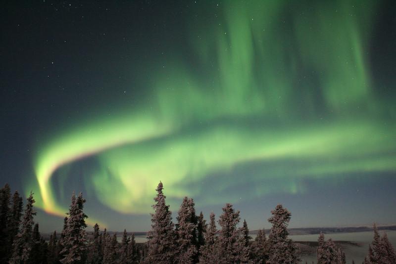 A beautiful display of the aurora borealis just north of Fairbanks.<br /> <br /> Credit: Tomji, Aurora Borealis Lodge