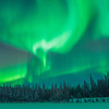 Northern lights taken off the Steese Highway, Fairbanks, Alaska.