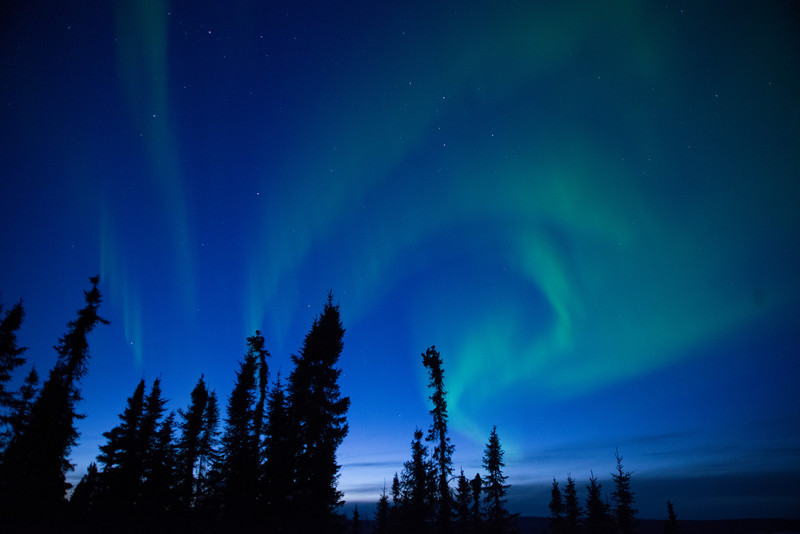 Aurora borealis near Fairbanks, Alaska.