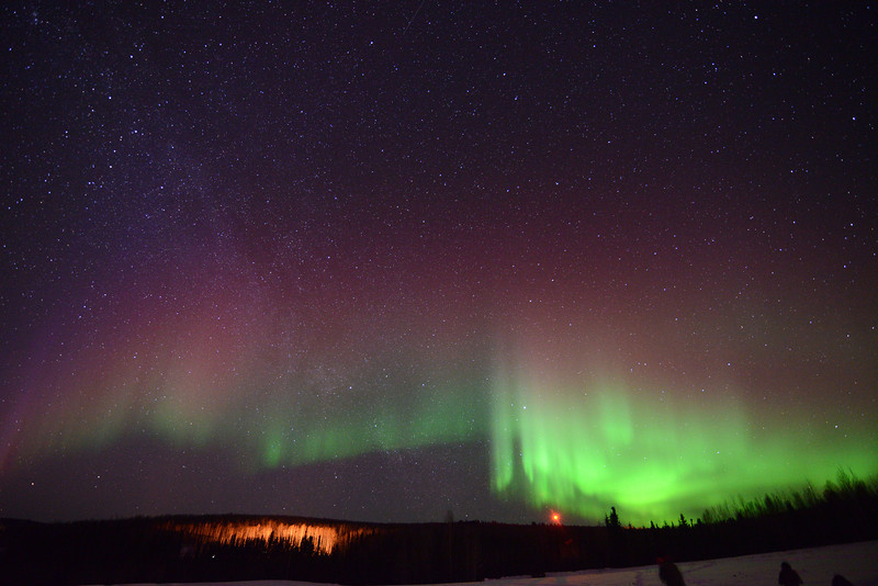 Credit: Sherman Hogue/FCVB<br /> <br /> Aurora near Fairbanks, Alaska.