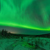 Aurora over Nome Creek in the White Mountains National Recreation Area, north of Fairbanks, Alaska.