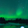 Aurora borealis over the Chatanika River north of Fairbanks, Alaska.