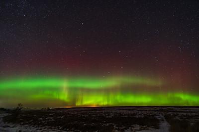 Horizon Aurora with Yellow Rays (January 4, 2019)